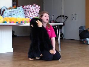 FB monkey puppet